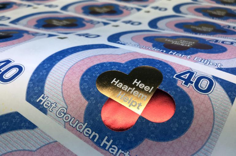 Gouden Hart Biljet rolt van de pers bij Koninklijke Joh. Enschedé